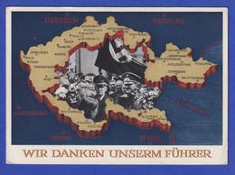 """Dt. Reich Sonder-Ganzsache Abstimmung Im Sudetenland Mit O ASCH """"Wir Sind Frei"""" - Enteros Postales"""