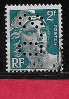 R5  Perfin France Perfore S.O 188  Sur Gandon N° 713 - Perforés