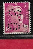 R5  Perfin France Perfore S.O 188  Sur Gandon N° 806 - Perforés