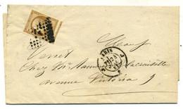 Enveloppe Avec N° 13 Ac ( Bistre Brun + Voisin Oblitéré Losange J Paris  En  1861 ( T 111) - 1849-1876: Periodo Classico
