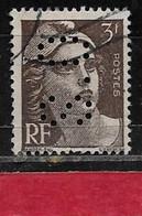 R5  Perfin France Perfore S.O 188  Sur Gandon N° 715 - Perforés