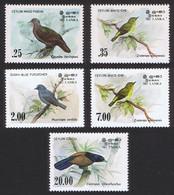 Sri Lanka Birds 5v 1983 MNH SG#827-830 SC#691-694+877 - Sri Lanka (Ceylan) (1948-...)