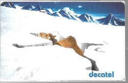 CARTE²PREPAYEE-DECATEL-CHAMEAU Dans La NEIGE-8Mn GRATUITES--Exp 30/06/2000-NSB-TBE - Tarjetas Prepagadas: Otras