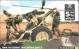 CODECARD²-FT-5MN-ARMEE-de Terre-QUIMPER-NON GRATTE-15/11/2004-TBE - Billetes FT