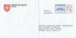 PAP POSTREPONSE LETTRE PRIORITAIRE Ciappa-Kavena Ordre De Malte - Verso 13P304 - Pas De N° à L'intérieur - Prêts-à-poster: Réponse /Ciappa-Kavena