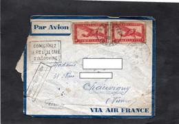 """LSC 1935 - Cachet  NAM BINH - TONKIN Sur YT PA 29 - Griffe HANOI / MARSEILLE & """"consommez Le Riz Et Café D'Indochine"""" - Briefe U. Dokumente"""