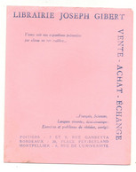 Buvard Librairie Joseph Gibert Vente - Achat - échange - Format : 20x16 Cm - L