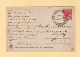 Pays Bas - Conference De La Haye - 10-1-1930 - Destination France - Poststempel
