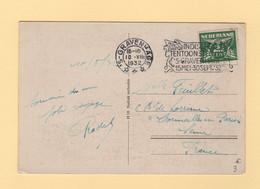 Pays Bas - Gravenhage - 1932 - Indische Tentoonstelling - Destination France - Poststempel