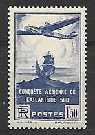 188 Traversée De L'atlantique Sud YT 320 Neuf * Trace Légère - Nuevos