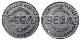 0002 GETTONE TOKEN JETON FICHA AMUSEMENT GAME SEGA - Unclassified