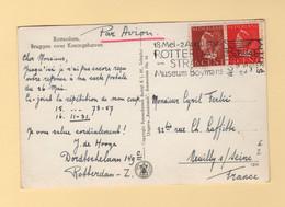Pays Bas - Rotterdam Stracks Museum Boymans - Par Avion Destination France - Poststempel