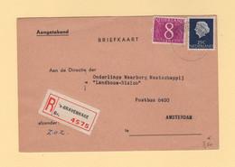 Pays Bas - Gravenhage - Carte Postale Recommandee Destination France - 1960 - Poststempel