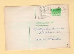 Pays Bas - Entier Postal - Carte Changement D Adresse - 1987 - Poststempel