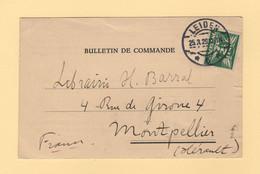 Pays Bas - Leiden - 1929 - Bon De Commande - Destination France - Poststempel