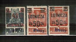 PL 1950 MI 584-85 A+b GROSZY MNH - Unused Stamps