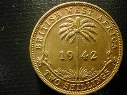 British West Africa  2 Shillings 1942   Au - Colonias