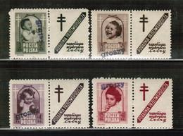 PL 1950 MI 613-16  GROSZY MNH - Unused Stamps