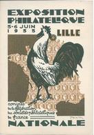 Entier Postal Timbré Sur Commande Exposition Philatélique Lille 1933 20c Semeuse. Illustration Coq Timbre Et Cérès - Enveloppes Types Et TSC (avant 1995)