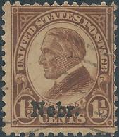 """Stati Uniti D'america,United States,U.S.A,1929 Overprinted """"Nebr."""" 1½C Brown,Used - Gebraucht"""