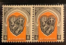 """ALGERIE 1947 - YT255** - Armoirie D'Alger - Variété """"Couleur Décalée"""" - Paire - Neufs"""