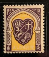 """ALGERIE 1947 - YT258** - Armoirie D'Alger - Variété """"Bavure Sur Le Mot """"POSTES"""" - """"S"""" De Poste Absent"""" - Neufs"""