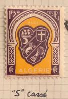 """ALGERIE 1947 - YT258* - Armoirie D'Alger - Variété """"Bavure Sur Le Mot """"POSTES"""" - Deuxième """"S"""" De Poste Cassé"""" - Neufs"""