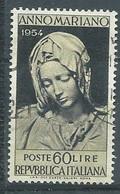 Italie YT N°689 Clôture De L'année Mariale Oblitéré ° - 1946-60: Gebraucht