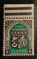 "ALGERIE 1947 - YT259** - Armoirie D'Oran - Variété ""Couleur Décalée"" - Neufs"