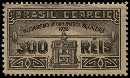 BRAZIL # 421 -  NUMISMATIC CONGRESS - OG  MINT  - 1936 - Ungebraucht