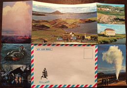 """Enveloppe Dépliant Lettre Souvenir Touristique, Mývatn North Iceland Série """"By Air Mail Iceland"""" N° 6 - Islanda"""