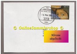 BRD - Privatpost - PIN NRW Köln -  Umschlag- Marke: Aktion Deutschland Hilft - Posta Privata & Locale