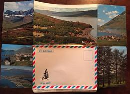 """Enveloppe Dépliant Lettre Souvenir Touristique, East Iceland, Série """"By Air Mail Iceland"""" N° 4 - Islanda"""
