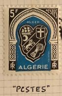 """ALGERIE 1948 - YT268* - Armoirie D'Alger - Variété O De """"POSTES"""" Cassée - PCSTES - Neufs"""