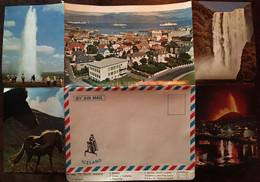 """Enveloppe Dépliant Lettre Souvenir Touristique Série """"By Air Mail Iceland"""" N° 15 South Iceland - Islanda"""