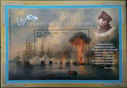Russia, 2003, Mi. 1128 (bl. 63), Sc. 6800, SG 7225, The 150th Anniv. Of The Battle Of Sinop (Crimea War), MNH - Blocks & Kleinbögen