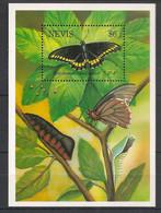 Nevis - 1993 - Bloc Feuillet BF N°Yv. 66 - Papillon / Butterfly - Neuf Luxe ** / MNH / Postfrisch - Papillons