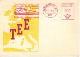 Nürnberg 1964 - Vorführstempel - TEE Transeuropa-Express-Züge Verbinden Grossstädte Europas - Ausbesserungswerk TEE - Cartas