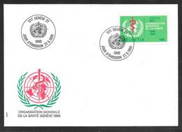 Switzerland / United Nations Geneva - 1986 WHO / ONU 140c Definitive FDC - Lettres & Documents