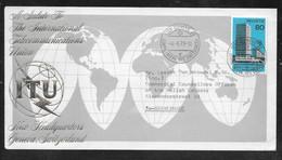 Switzerland / United Nations Geneva - 1973 ITU / UIT Headquarters Building Souvenir Cover To Netherlands - Autres
