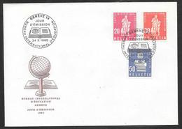 Switzerland / United Nations Geneva - 1960 IBE / BIDE Globe & Pestalozzi Definitives FDC - Autres