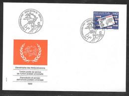 Switzerland / United Nations Geneva - 1989 UPU Office EMS Service Definitive FDC - Autres