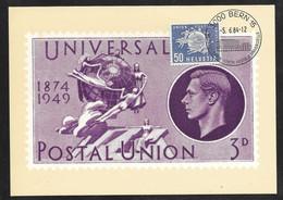 Switzerland / United Nations Geneva - 1984 GB Postal Museum UPU Exhibition Maxi Card - Lettres & Documents