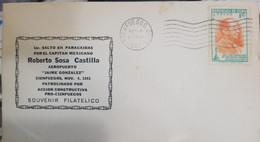 O) 1951 CUBA,1ST JUMP IN PARACHUTES ROBERTO SOSA CASTILLA,JOSE RAUL CAPABLANCA, WORLD CHESS TITLIST, CONSTRUCTIVE ACTI - FDC