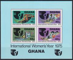 F-EX23018 GHANA MNH 1975 INTERNATIONAL WOMAN YEAR SHEET - Ghana (1957-...)