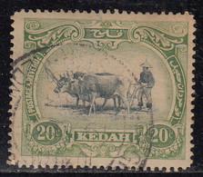 20c Kedah Used 1921, Malaya / Malaysia - Kedah