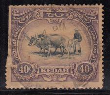 40c Kedah Used 1921, (Cond., Space Filler), Malaya / Malaysia - Kedah