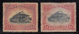 $1 Kedah Used 1921, Shade Variety, Malaya / Malaysia - Kedah