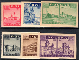 Poland 1945-46 Warsaw 1939-45 Unmounted Mint. - Unused Stamps