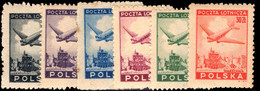 Poland 1946 Air Set Unmounted Mint. - Unused Stamps